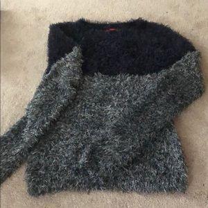 {saks fifth avenue} super fuzzy sweater